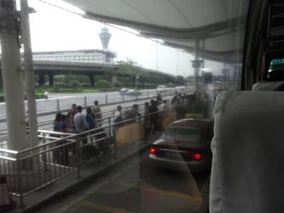広州白雲空港到着